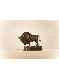 Bison statuette (bronze)