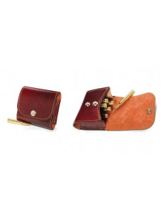 VEKTOR Genuine leather double-row pouches, 10 rifled cartridges