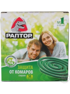 Spiral from mosquitoes without a smell 10 pcs RAPTOR
