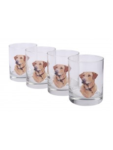 A set of glasses 4 pieces (yellow labrador)