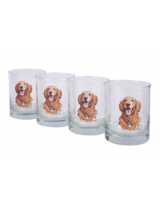 A set of glasses 4 pieces (golden retriever)