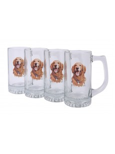 A set of mugs 4 pieces (golden retriever)