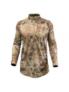 T-shirt HELIOS LS ZIP (highlander) (size L)